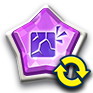 ブロック紫玉変換画像
