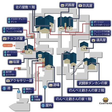 サウスフィガロ(崩壊後)のマップ