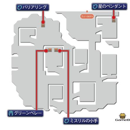 帝国軍陣地のマップ