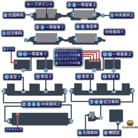 魔列車のマップ