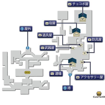 ニケアのマップ