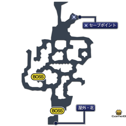 幻獣防衛戦のマップ