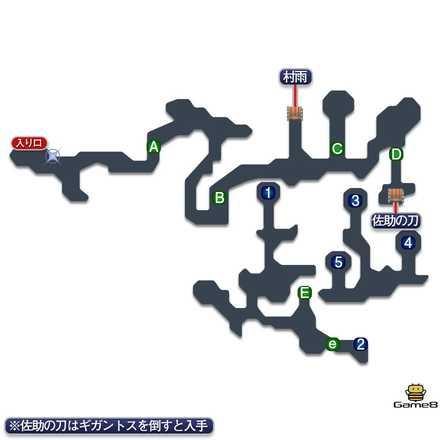 魔大陸のマップ