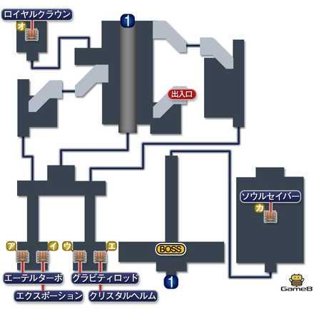 フィガロ城地下のマップ