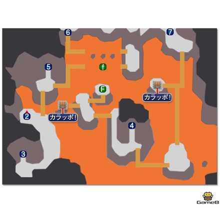フェニックスの洞窟のマップ