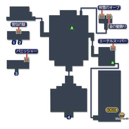 古代城のマップ