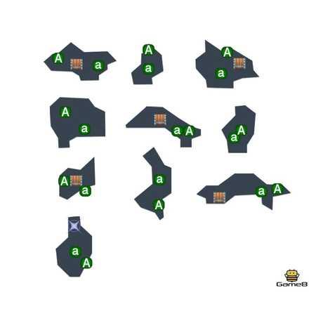 えぼし岩の洞窟のマップ
