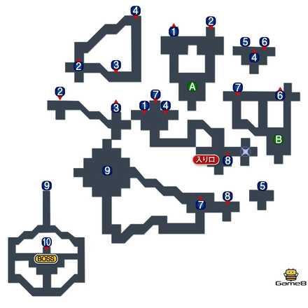 夢のダンジョンのマップ
