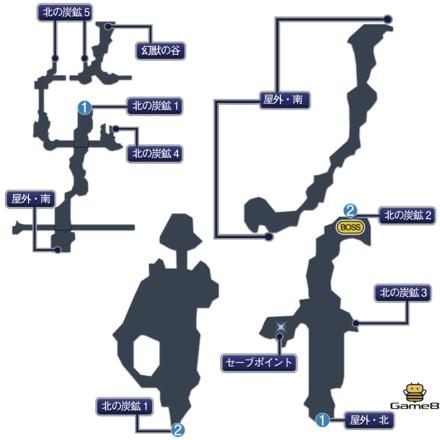ナルシェ(崩壊後)のマップ