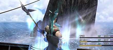 シン(背びれ)への攻撃はワッカとルールー