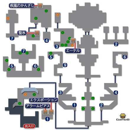 帝国城のマップ