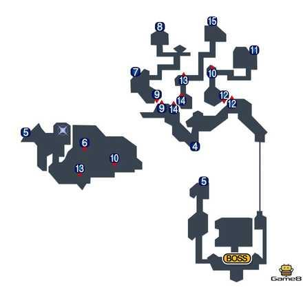 幻獣の洞窟のマップ