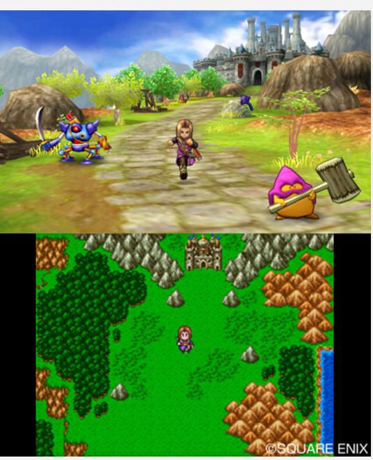 3DS版のドラクエ11のフィールド画像