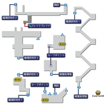 魔導工場のマップ