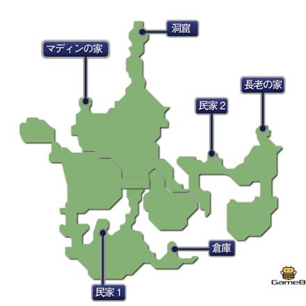 幻獣界のマップ