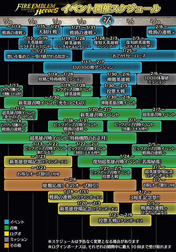 12〜1月スケジュール