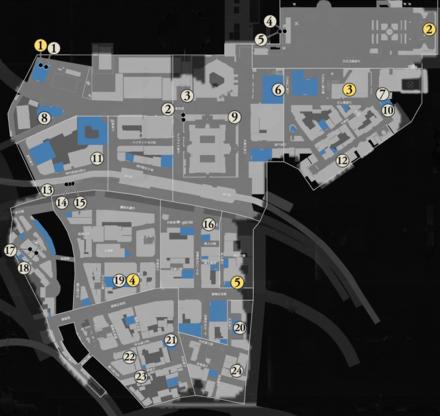 金庫銀庫の場所マップ