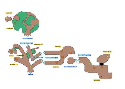 シェードジャングルのマップ画像