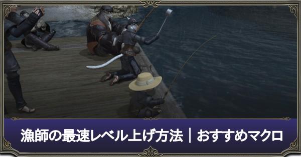漁師 最速レベル上げ方法 おすすめマクロ