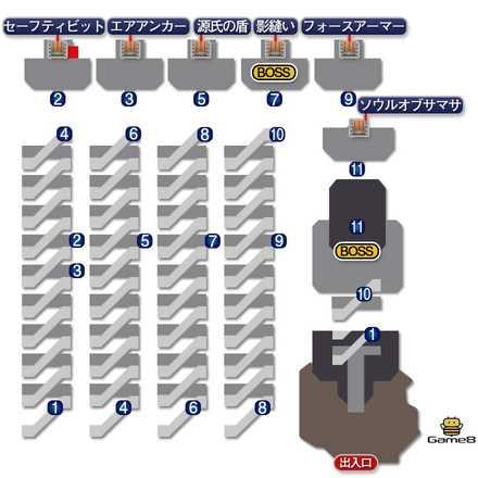 狂信者の塔のマップ