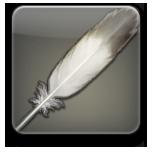 シルバーチョコボの羽根