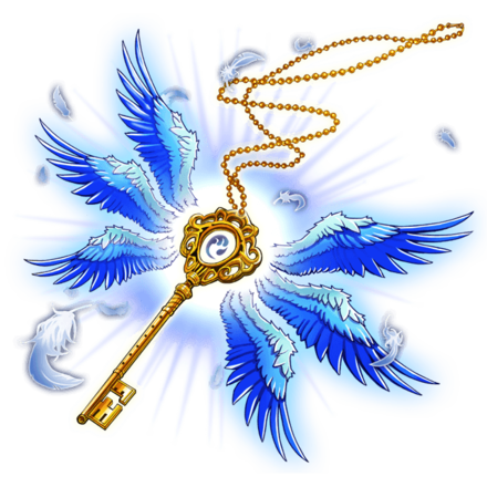 【神】アークエンジェルネックレス・水翼鍵の画像