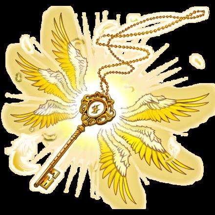 【神】アークエンジェルネックレス・雷翼鍵の画像