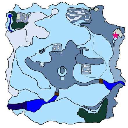 雪山の氷穴の行き方