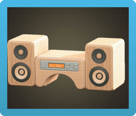 Wooden-Block Stereo Icon