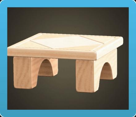 つみきテーブル画像