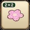 お花見のラグ