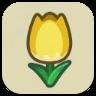 黄色いチューリップの画像