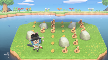 岩からベルのみ出る島