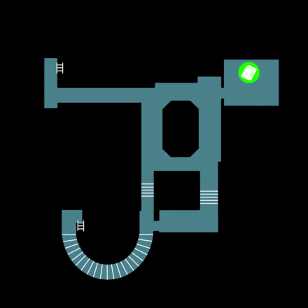 下水道(上層)のマップ