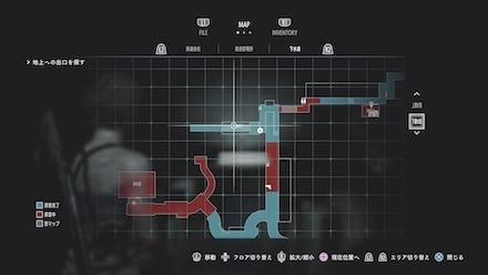 下水道階段のチャーリー人形マップ