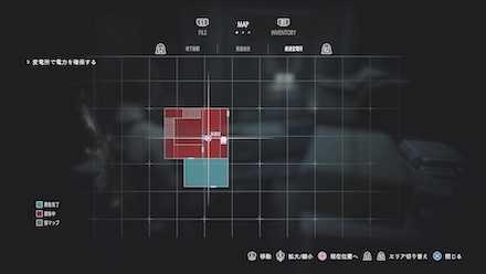 変電所長からのFAXのマップ