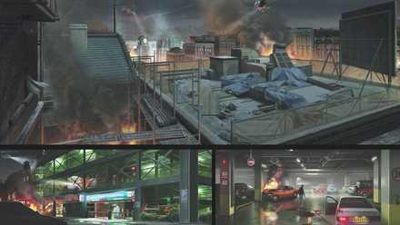 コンセプトアート15−駐車場/ビル屋上
