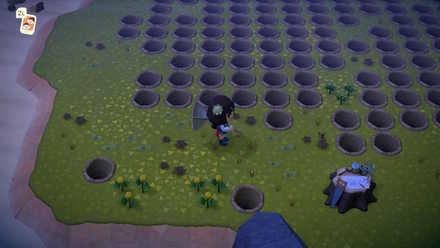 オケラが湧かないように穴を掘ったり雑草を植える