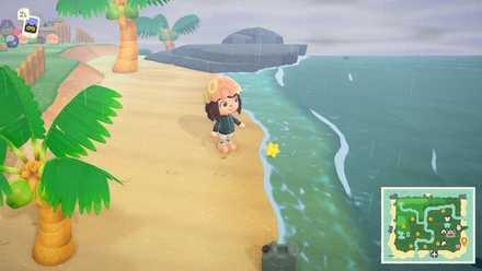 翌日砂浜にほしのかけらが落ちている