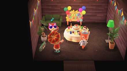 誕生日パーティーが開催される