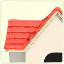ピンクの瓦屋根