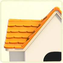 黄色い瓦屋根