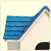 水色の瓦屋根