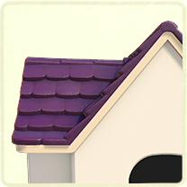 紫の瓦屋根