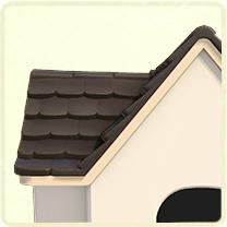 黒い瓦屋根