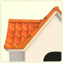 オレンジの洋瓦の屋根