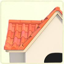 ピンクの洋瓦の屋根