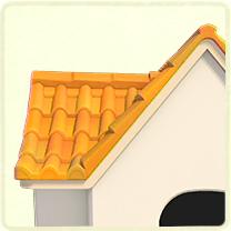 黄色い洋瓦の屋根
