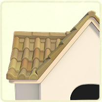 ベージュの洋瓦の屋根