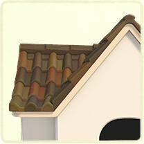 茶色い洋瓦の屋根